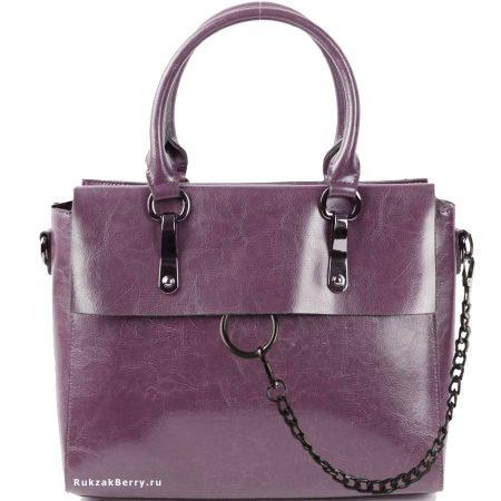 фото модная сумка кожаная сиреневая Лойя