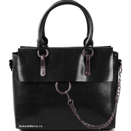 фото модная сумка кожаная черная Лойя