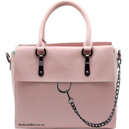 фото модная сумка кожаная розовая пудра Лойя