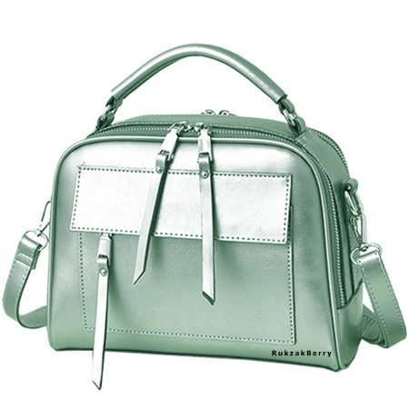 фото модная сумка кожаная мятная Дана