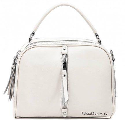 фото модная сумка кожаная белая Дана