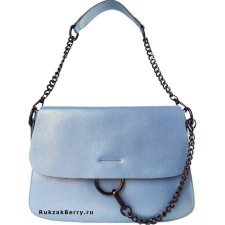 фото модная сумка кожаная голубая Эмми
