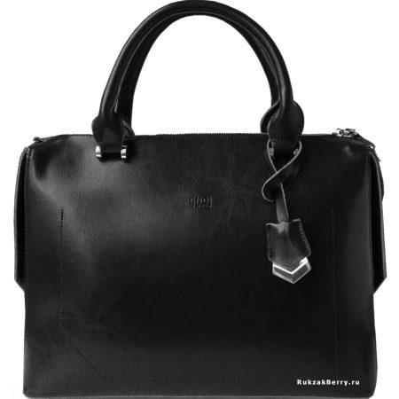фото модная сумка кожаная черная Энди