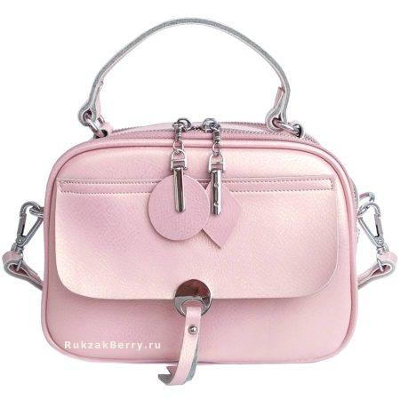 фото модная сумка кожаная розовая Агния
