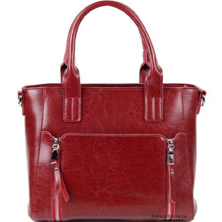 фото модная сумка кожаная красная Эльза