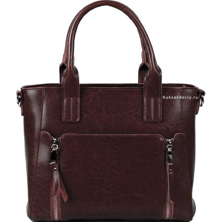 фото модная сумка кожаная коричневая Эльза