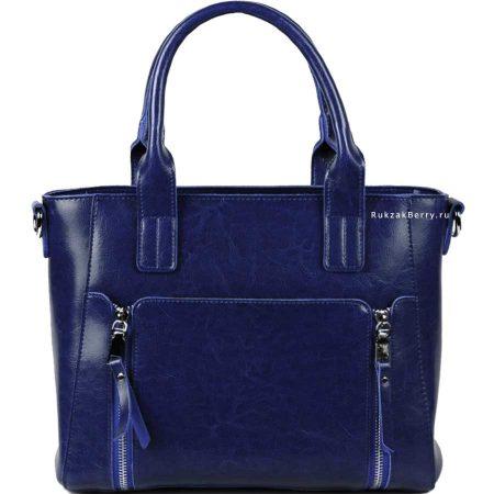 фото модная сумка кожаная синяя Эльза