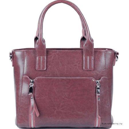 фото модная сумка кожаная сиреневая Эльза