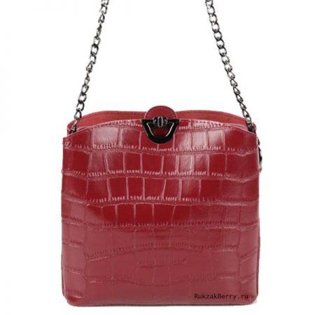 фото модная сумка кожаная красная под рептилию Лаура
