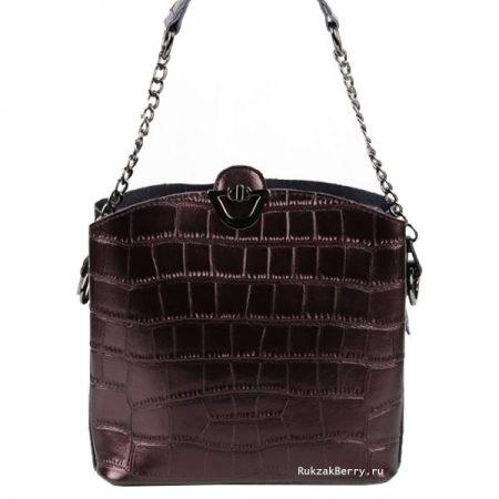 фото модная сумка кожаная коричневая Лаура