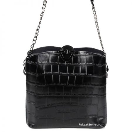 фото модная сумка кожаная черная Лаура