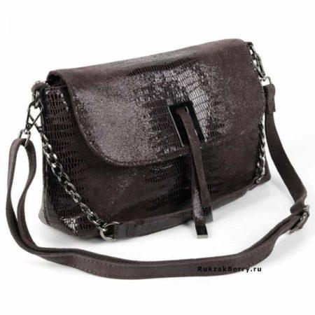 фото лазерная сумка под рептилию коричневая Линда