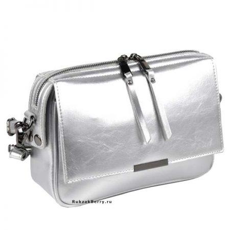 фото модная сумка кожаная серебряная Сэнди