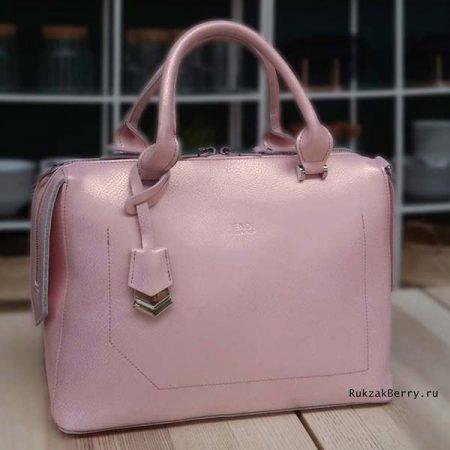 фото сумка кожаная розовая женская Энди