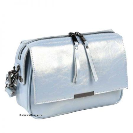 фото модная сумка кожаная голубая Сэнди