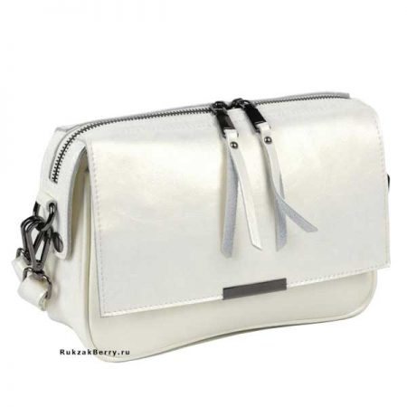 фото модная сумка кожаная белая Сэнди