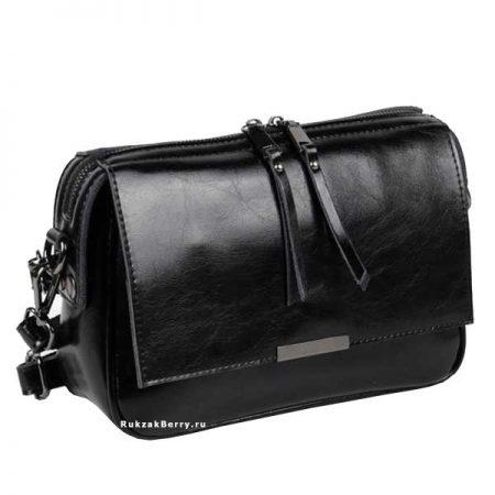 фото модная сумка кожаная черная Сэнди