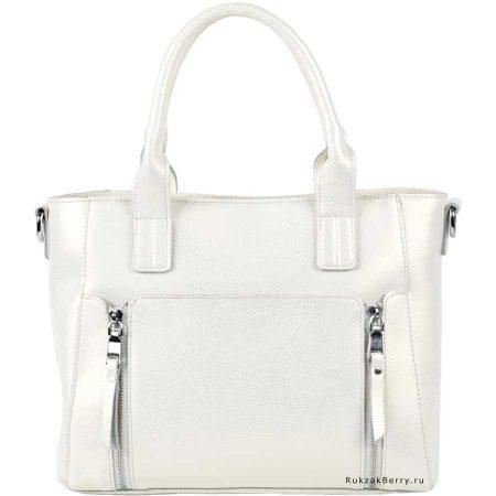 фото модная сумка кожаная белая Эльза