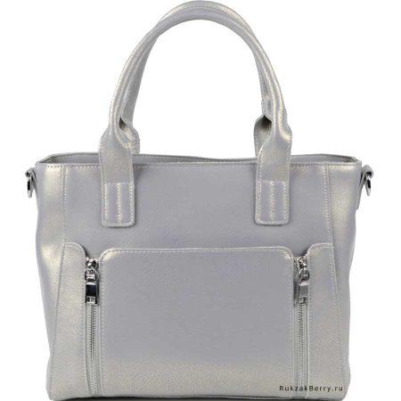 фото модная сумка кожаная серая Эльза