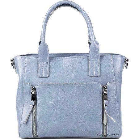 фото модная сумка кожаная голубая Эльза