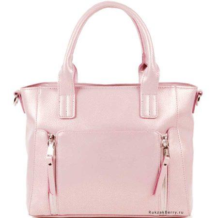 фото модная сумка кожаная розовая Эльза