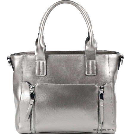 фото модная сумка кожаная серебряная Эльза