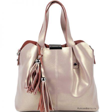 фото модная сумка кожаная бежевая хобо средняя Илона