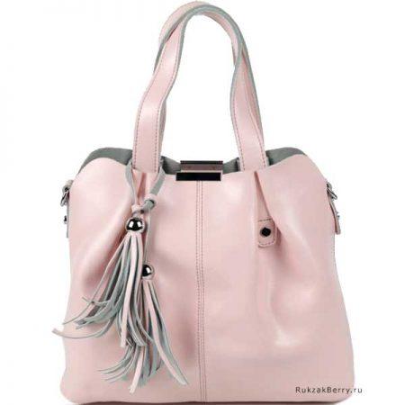фото модная сумка кожаная розовая хобо средняя Илона