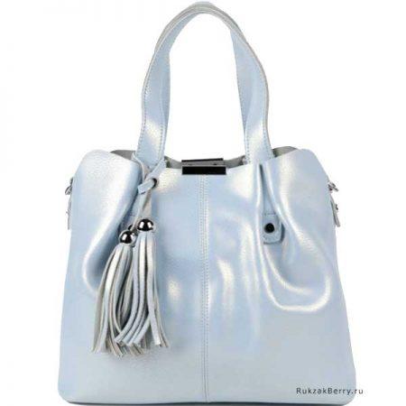 фото модная сумка кожаная голубая хобо средняя Илона