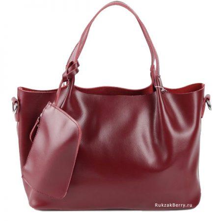фото модная сумка кожаная красная мягкая средняя Ванда