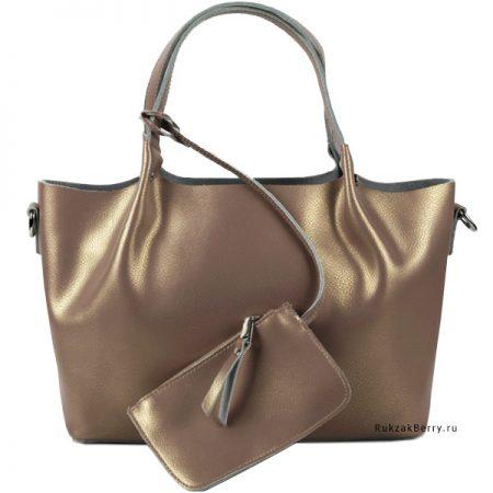 фото модная сумка кожаная золотая хобо средняя Ванда